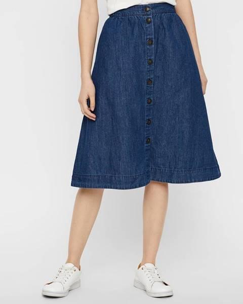 Tmavomodrá sukňa Vero Moda
