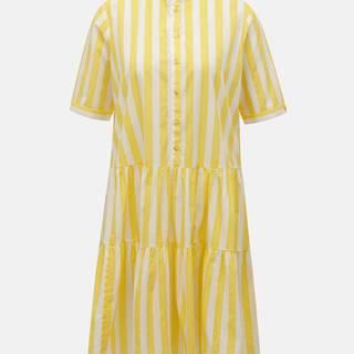 Bielo-žlté pruhované šaty VERO MODA Delta