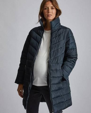 Tmavomodrý kabát Dorothy Perkins Maternity