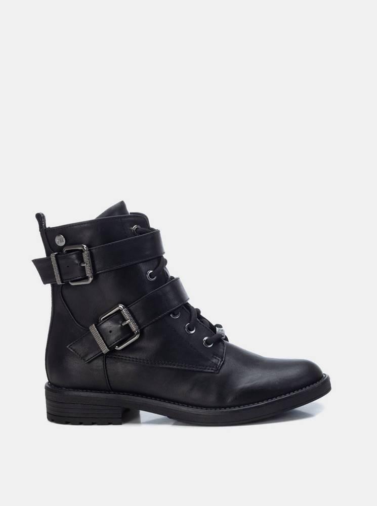 Xti Čierne členkové topánky Xti