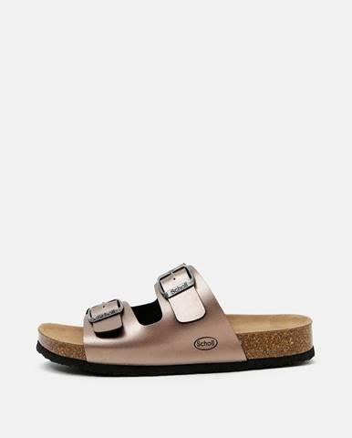 Béžové papuče Scholl