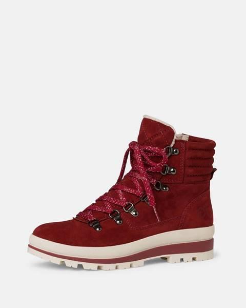 Červené zimná obuv Tamaris