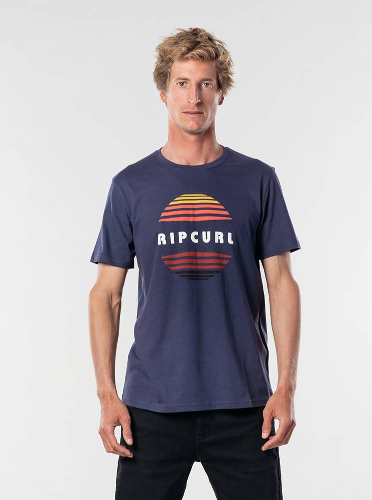 Rip Curl Tmavomodré pánske tričko Rip Curl