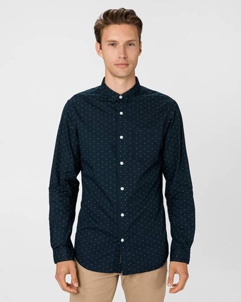 Modrá košeľa Jack & Jones