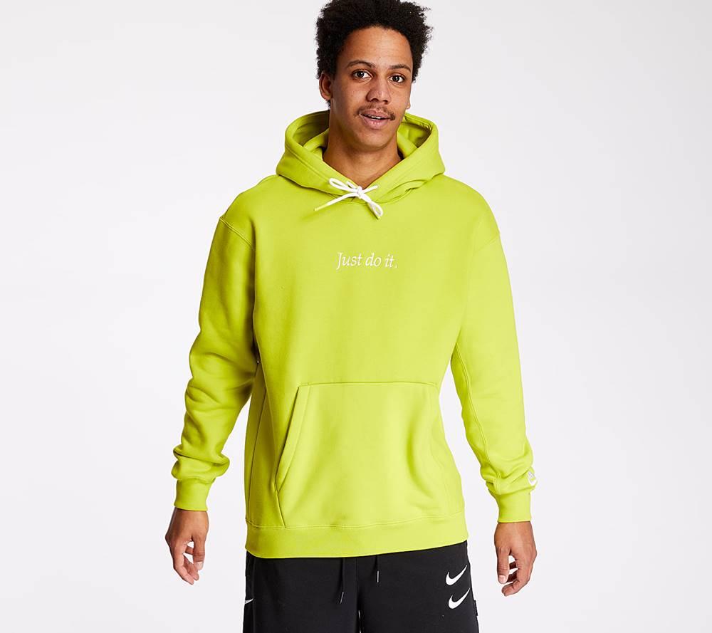 Nike Nike Just Do It Heavyweight Hoodie Lime Green