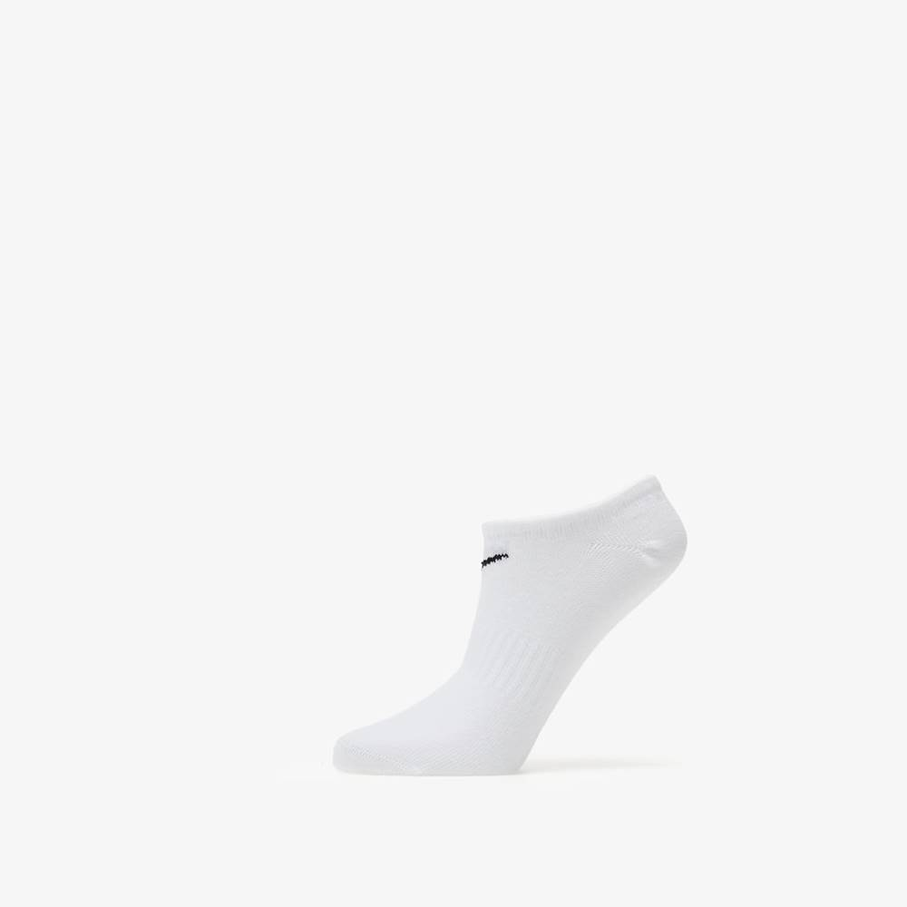 Nike Everyday Cotton Lightweight No Show Socks 3 Pack White