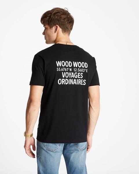 Čierne tričko WOOD WOOD