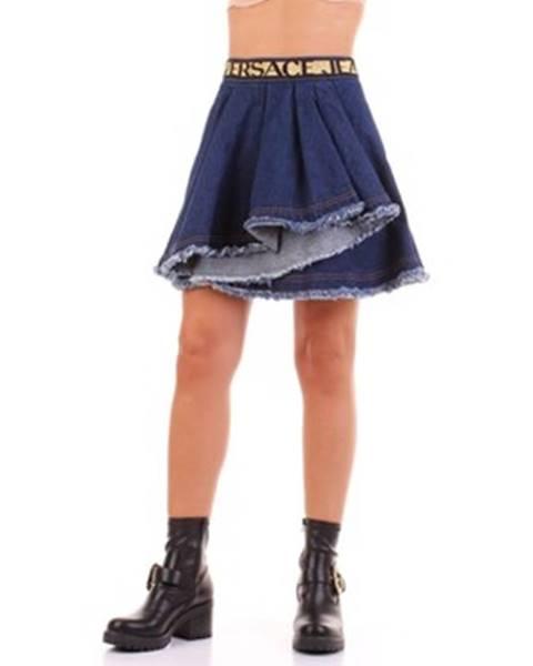 Modrá sukňa Versace