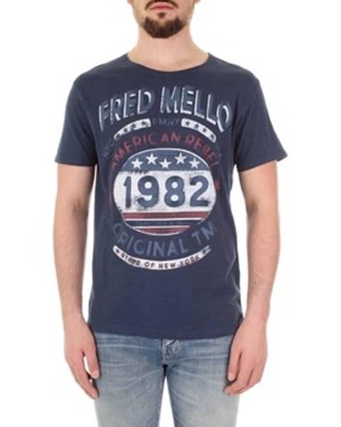 Modré tričko Fred Mello