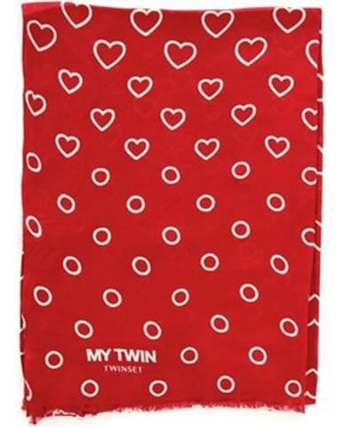 Červená šatka Twinset Mytwin