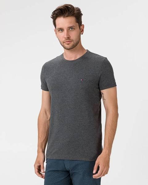 Sivé tričko Tommy Hilfiger