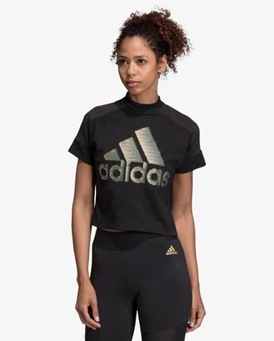 Čierne tričko adidas Performance