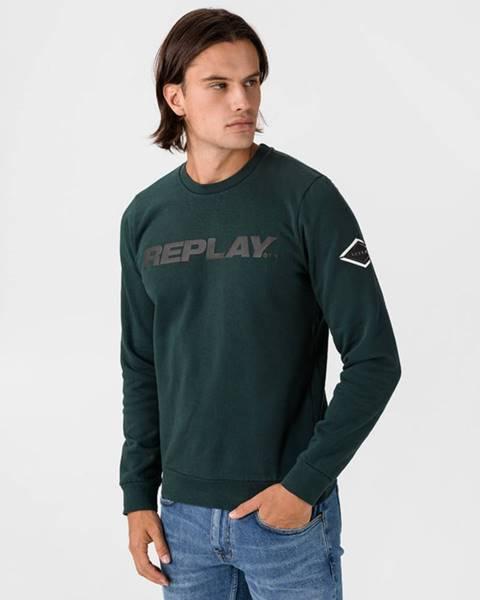 Zelená bunda bez kapucne Replay