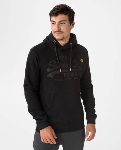 Čierna bunda s kapucňou Superdry