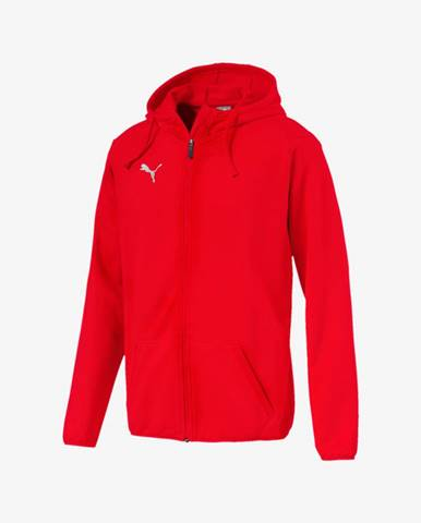 Červená bunda s kapucňou Puma