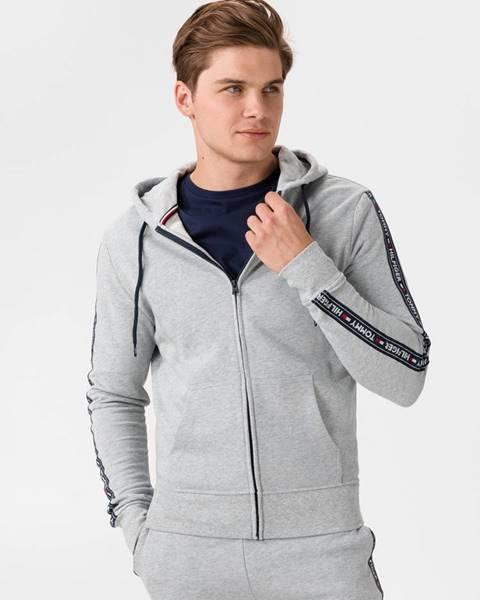 Sivá bunda s kapucňou Tommy Hilfiger