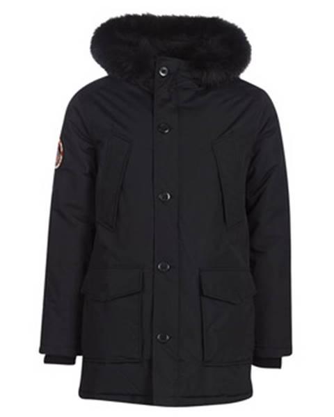 Čierna bunda Superdry