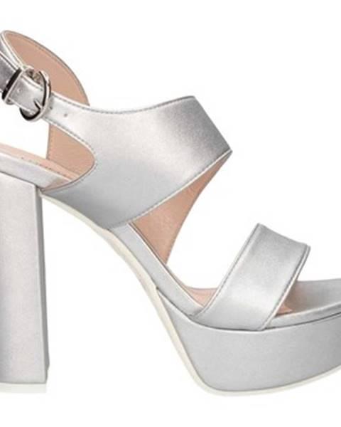 Strieborné sandále Lorenzo Mari