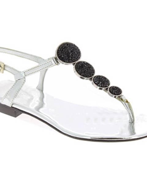 Strieborné sandále Barbara Bui