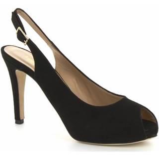 Sandále Leonardo Shoes  BROOKS CAMOSCIO NERO