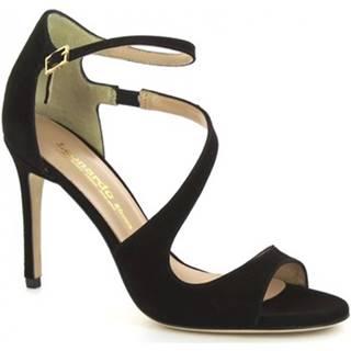 Sandále Leonardo Shoes  VALLIE CAMOSCIO NERO
