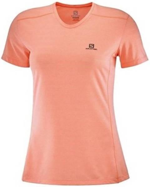 Ružové tričko Salomon