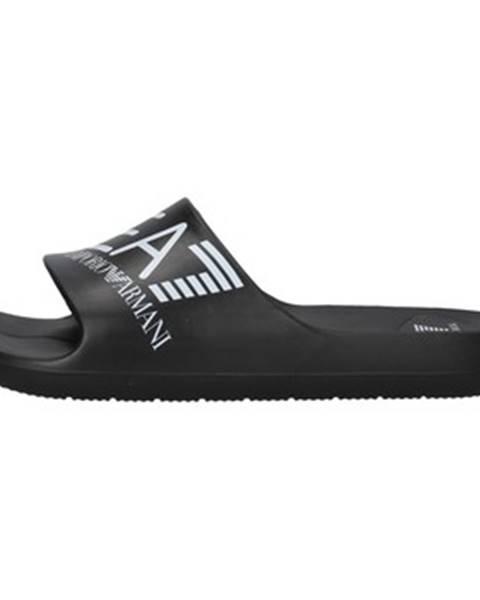 Čierne sandále Emporio Armani EA7