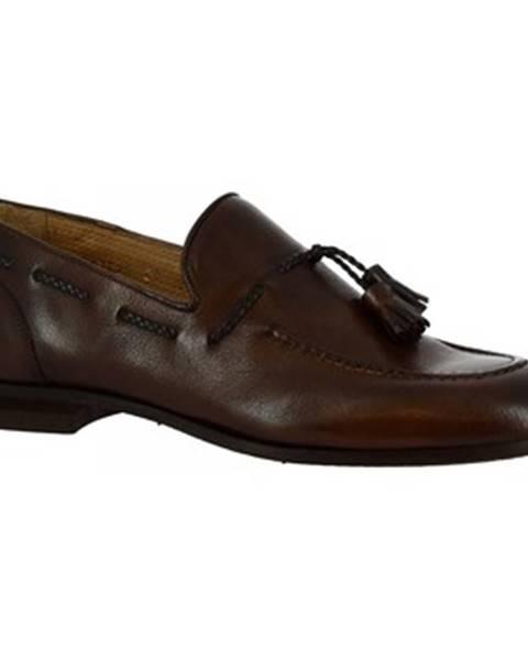Viacfarebné mokasíny Leonardo Shoes
