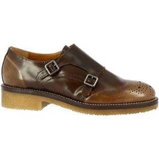 Derbie Leonardo Shoes  6004/3 ABRASIVATO MARMOTTA