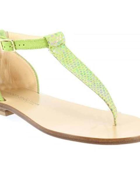 Zelené sandále Leonardo Shoes