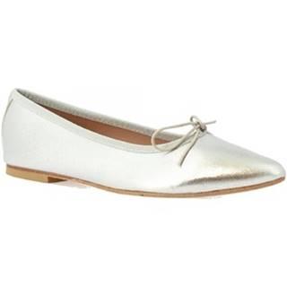 Balerínky/Babies Leonardo Shoes  1178 NAPPA ARGENTO