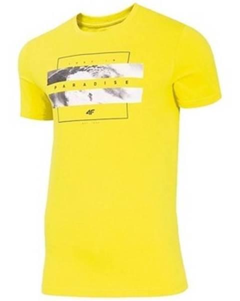 Žlté tričko 4F
