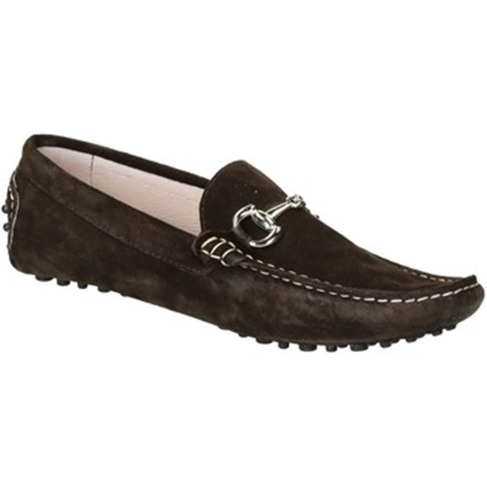 Leonardo Shoes Mokasíny Leonardo Shoes  504 CAMOSCIO TESTA DI MORO