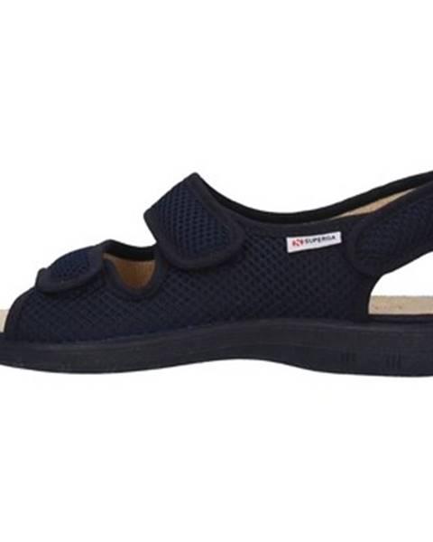 Modré sandále Superga