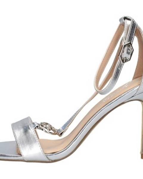 Strieborné sandále Gattinoni
