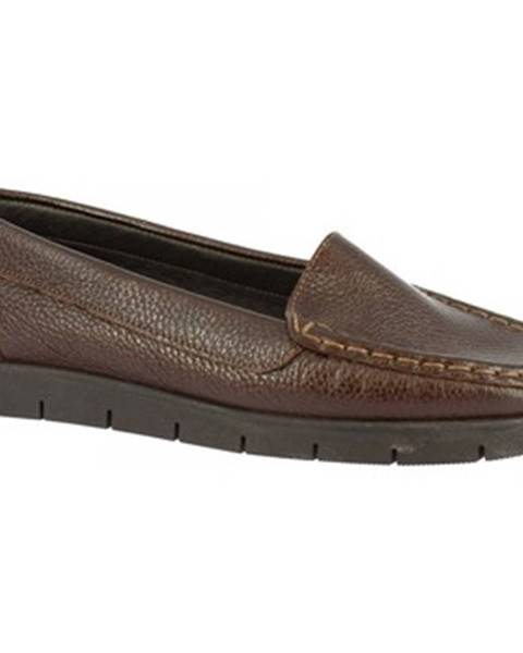 Hnedé mokasíny Leonardo Shoes