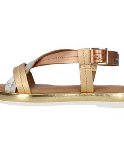 Zlaté sandále Paola Ferri