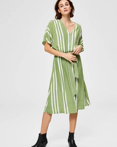 Zelené midišaty Selected Femme