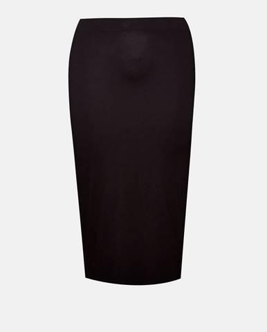 Čierna sukňa Dorothy Perkins Curve