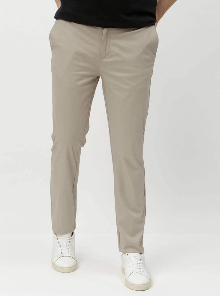 Burton Menswear London Béžové slim fit chino nohavice Burton Menswear London