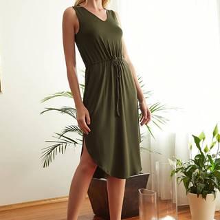 Kaki šaty Trendyol