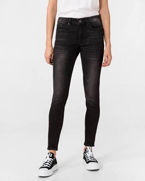 Čierne skinny nohavice Vero Moda