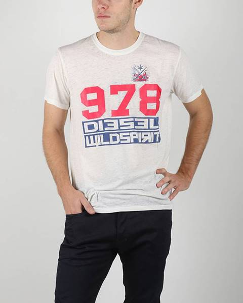 Biele tričko Diesel
