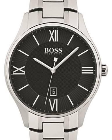 Strieborné hodinky Hugo Boss