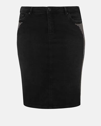 Tmavosivá sukňa Zizzi