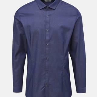 Tmavomodrá super slim fit košeľa Jack & Jones Parma