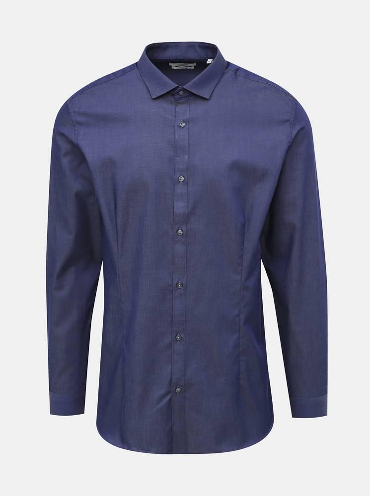 Jack & Jones Tmavomodrá super slim fit košeľa Jack & Jones Parma