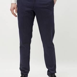 Tmavomodré pruhované nohavice ONLY & SONS Mark