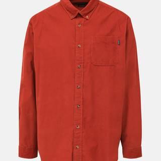 Tehlová menčestrová slim fit košeľa Jack & Jones Tray