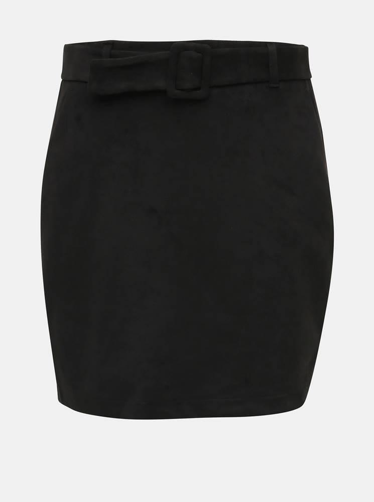 Vero Moda Čierna sukňa v semišovej úpravej  VERO MODA Chili